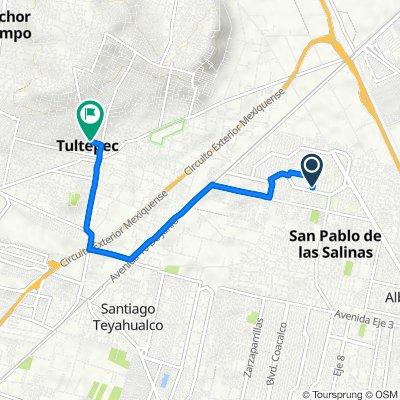 De Calle Azucenas 6, San Pablo de las Salinas a Avenida Hermenegildo Galeana 5–13, Tultepec
