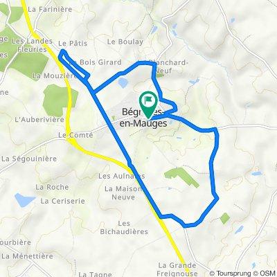 De 16 Rue des Mauges, Bégrolles-en-Mauges à 14bis Rue des Mauges, Bégrolles-en-Mauges