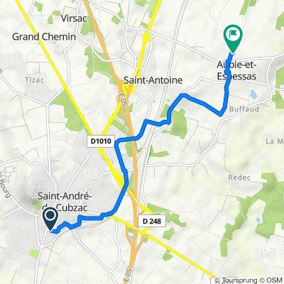 De 9 Rue Constantin, Saint-André-de-Cubzac à 14 Rue des Écoles, Aubie-et-Espessas
