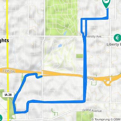 1508 42nd St, Des Moines to 1508 42nd St, Des Moines