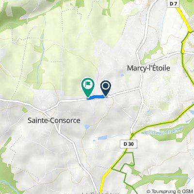 De 453–485 Route de Sainte-Consorce, Marcy-l'Étoile à 861–929 Chemin de la Madone, Sainte-Consorce