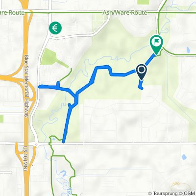 Route from 1571–1599 Sherwood Rd, Shoreview