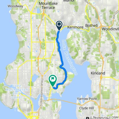 Beach Drive Northeast 16841, Lake Forest Park to Northeast Blakeley Street 3000, Seattle