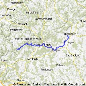 Beuron-Altheim (Donauradweg)