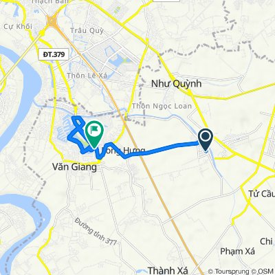 District Road 20, Van Giang to Bridge Chu Dong Tu, Van Giang
