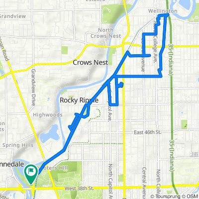 N White River Parkway E Dr, Indianapolis to N White River Parkway E Dr, Indianapolis