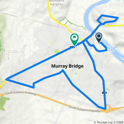 22 km Loop Of Murray Bridge  (Perfect for E-Bike)