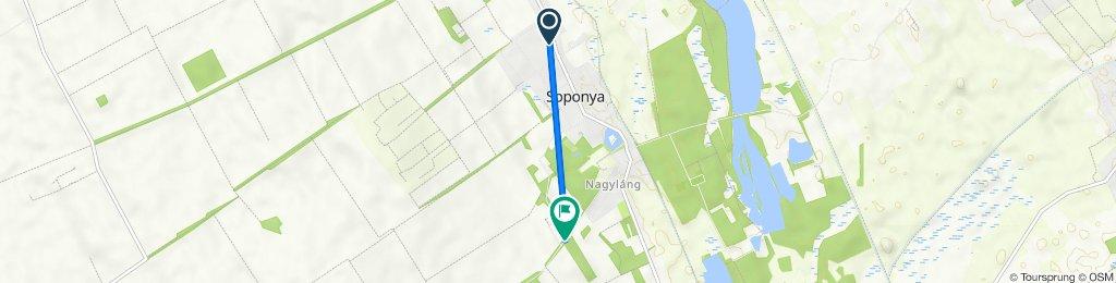 Route from Gábor Áron köz 2., Soponya