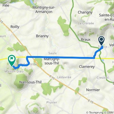 De 11 Chemin des Vignes, Clamerey à 1 Chemin de Thil, Vic-sous-Thil