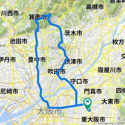 自宅-勝尾寺ヒルクライム