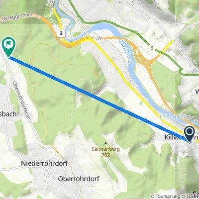 Im Steinig 13, Killwangen to Täfernweg 1, Dättwil AG