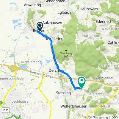 Miederinger Straße 10A, Affing nach Unterzeller Straße, Friedberg