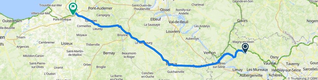 Itinéraire à partir de 5 Rue Pierre Fontaine, Wy-dit-Joli-Village