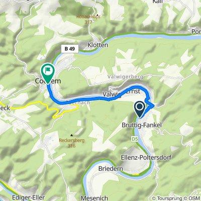 Am Moselufer, Bruttig-Fankel nach Bernstraße 24a, Cochem
