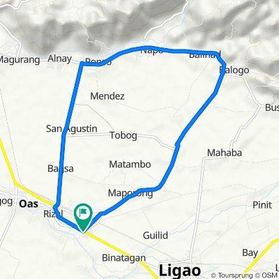 Oas - Polangui - Ligao Palayan Loop