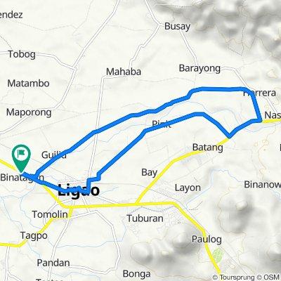 Tobgon River Loop avoiding National Hi-ways and Dense Roads