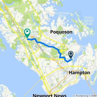 99 Tide Mill Ln, Hampton to 12130 Jefferson Ave, Newport News