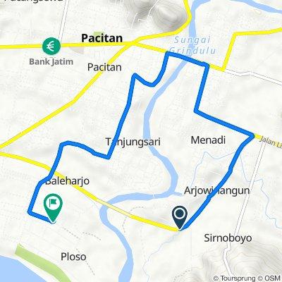 Route to Unnamed Road, Kecamatan Pacitan