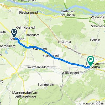 Grüner Weg 5, Schwadorf bei Wien nach Gemeinde Bruck an der Leitha