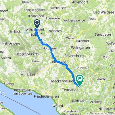 Dahlienweg 5, Wilhelmsdorf to L326 23, Tettnang