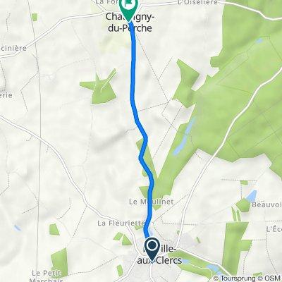De Place de Leglise 16, La ville-aux-Clercs à Rue du Perche 19, Chauvigny-du-Perche