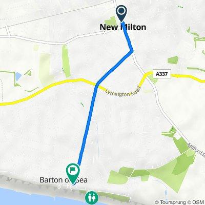 66A Station Road, New Milton to Barton Court Ave, Barton On Sea, New Milton