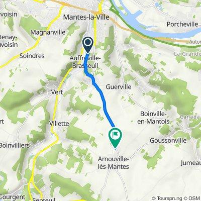 De 45–47 Rue des Clauselais, Auffreville-Brasseuil à D65, Arnouville-lès-Mantes