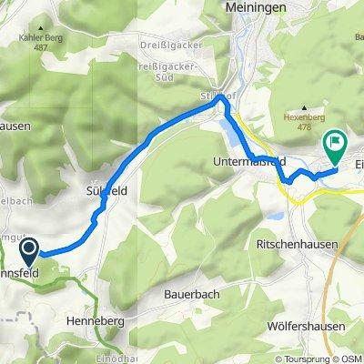 Fasanerie, Rhönblick nach Rudolf-Harbig-Straße 17, Obermaßfeld-Grimmenthal