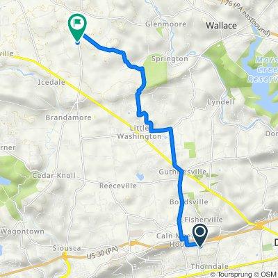 46 Williams Way, Downingtown to 1181 N Manor Rd, Honey Brook