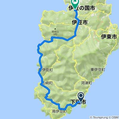 Day 2從Shimoda Ocean Park Hotel到石のや 伊豆長岡的路線
