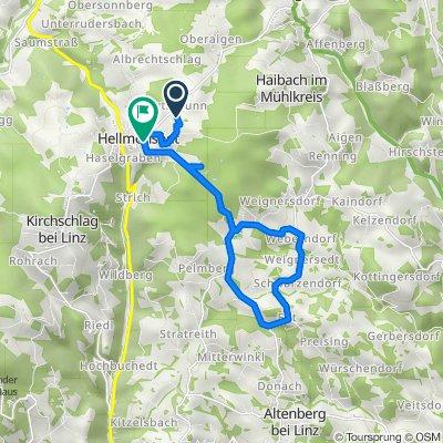 Wasserwald 1, Hellmonsödt nach Hofstätte 3, Hellmonsödt