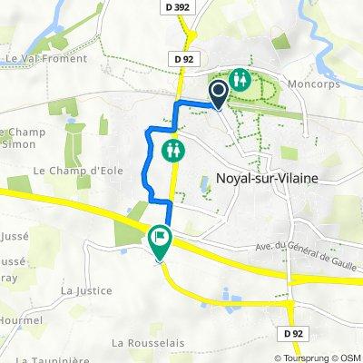 De 5380 Rue de la Gare, Noyal-sur-Vilaine à D286, Noyal-sur-Vilaine