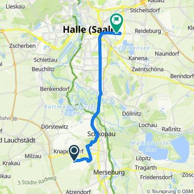 Route nach Delitzscher Straße 63A, Halle (Saale)