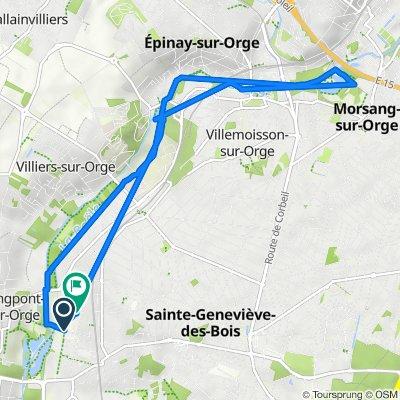 De Allée des Prairies, Saint-Michel-sur-Orge à 7 Rue du Haras, Saint-Michel-sur-Orge