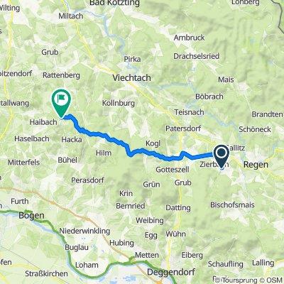 Pometsauer Weg 2, Zachenberg nach Hadriwastraße 14, Haibach