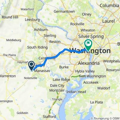 9512 Loma Dr, Bristow to 2 Lincoln Memorial Cir NW, Washington