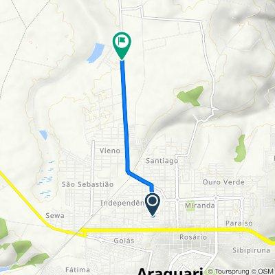 De Rua Colúmbia, 293–339, Araguari a Rodovia MG-414, 3640–3746, Araguari