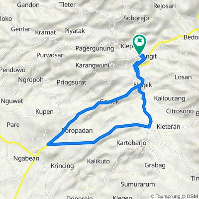 Unnamed Road, Kecamatan Pringsurat to Unnamed Road, Kecamatan Pringsurat