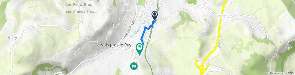De 76 Avenue Maréchal Foch, Le Puy-en-Velay à 18 Rue Jean Mermoz, Le Puy-en-Velay