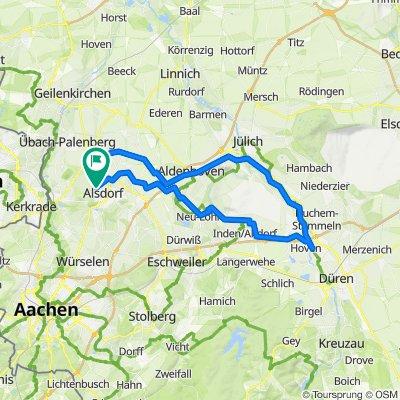62 Km Alsdorf-Düren-Jülich-Alsdorf