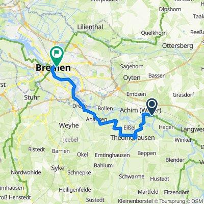 5 Weser-Radweg: Achim-Bremen 35km