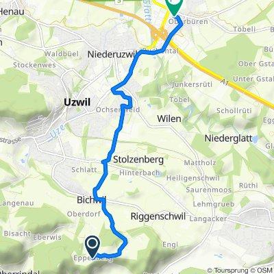 Eppenberg 1229, Bichwil nach Sandackerstrasse 1, Oberbüren