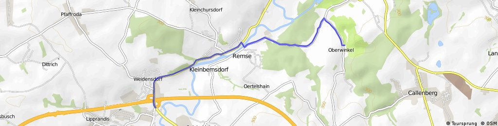 Autobahnabfahrt Glauchau- Glänzelmühle