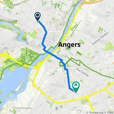 De 6 Rue des Gouronnières, Angers à 20 Rue d'Orgemont, Angers