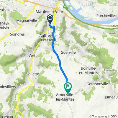 De Avenue du Vexin, Mantes-la-Ville à 2 Route de Mantes, Arnouville-lès-Mantes