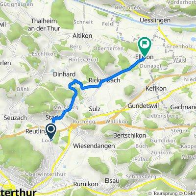 Stadlerstrasse, Winterthur nach Uesslingerstrasse 2, Ellikon a d Thur
