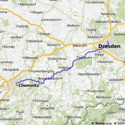 Chemnitz Zentrum - Dresden Löbtau CLONED FROM ROUTE 729499
