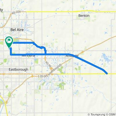 2431 N Pershing St, Wichita to 2431 N Pershing St, Wichita