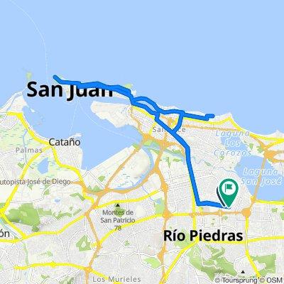 Ruta desde Calle Navarra 325, San Juan