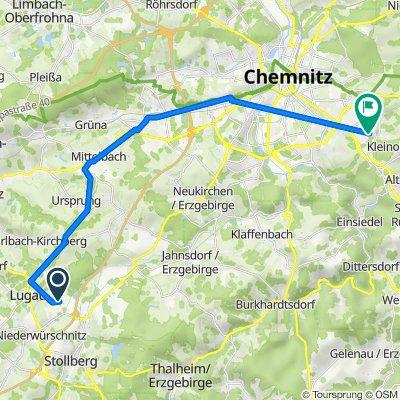 Nach den Steegen 2, Niederwürschnitz nach Wilhelm-Busch-Straße 29, Chemnitz